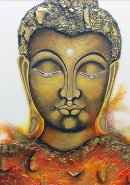 Buddha painting on a wall
