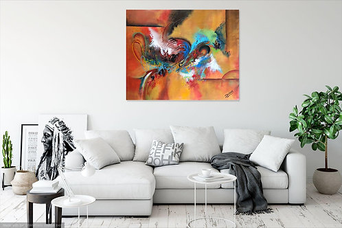 CANVAS PRINT~ abstract painting