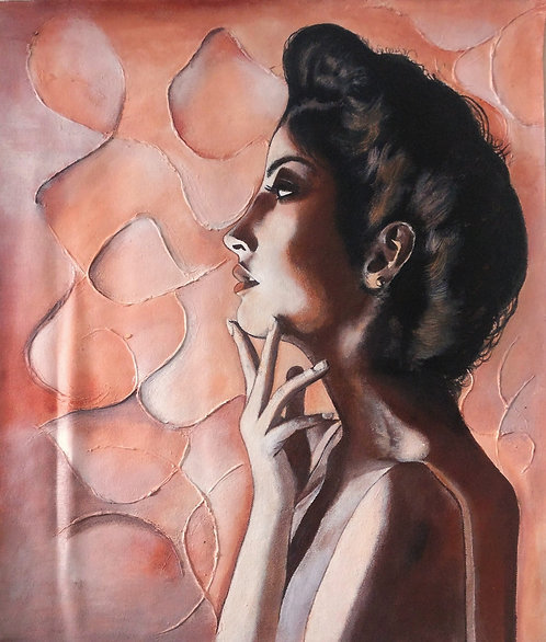 Original Textured feminine painting