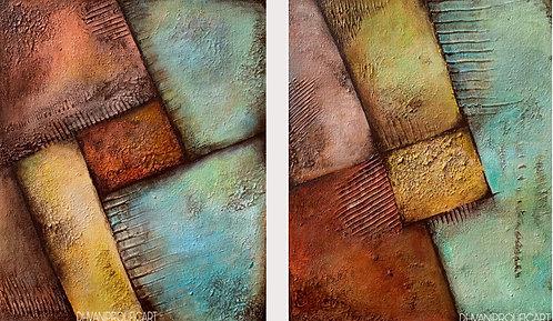 geometrical Acrylic Painting (2 Piece)