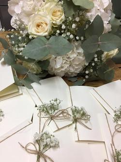 Libricino messa con fiori