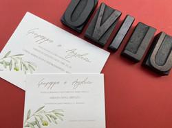 Invito Ulivo Letterpress