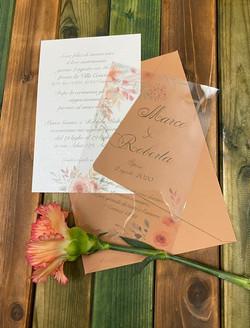 Invito di Matrimonio con decoro floreale