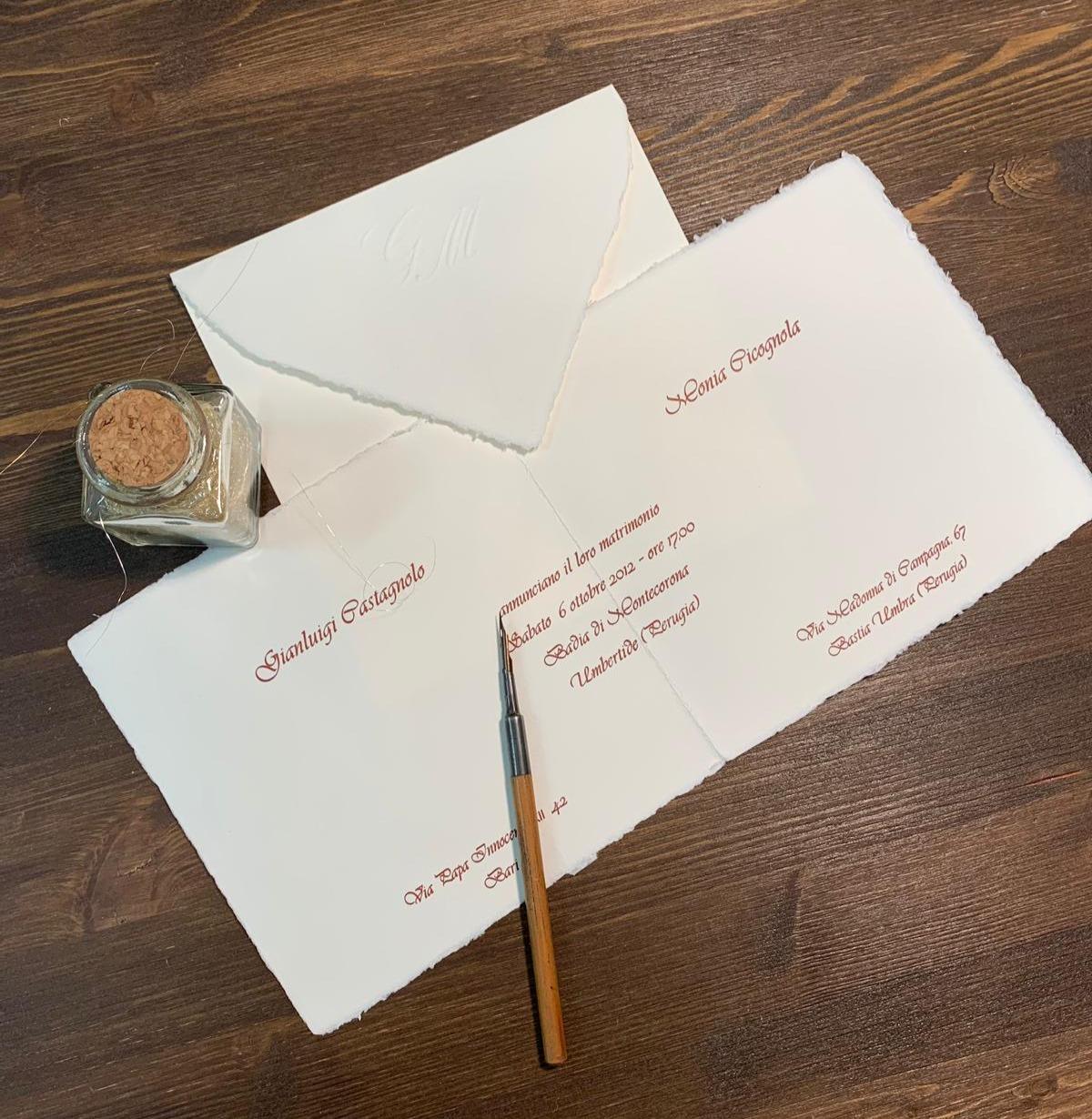 Partecipazione nozze Amalfi Quadrata