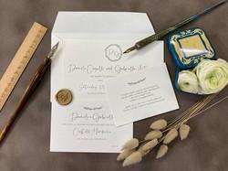 Invito di Matrimonio con busta e sigillo