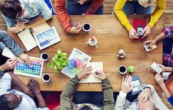 Group of Multiethnic Designers Brainstorming.jpg