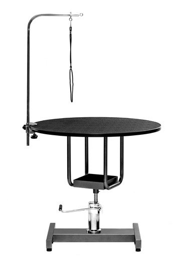 미용 테이블 (유압 원형) - 대형