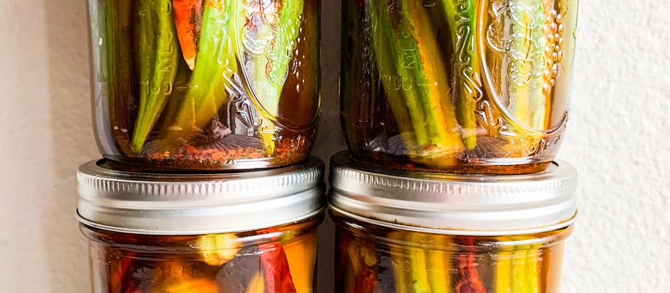 The Best 9-Ingredient Pickled Okra