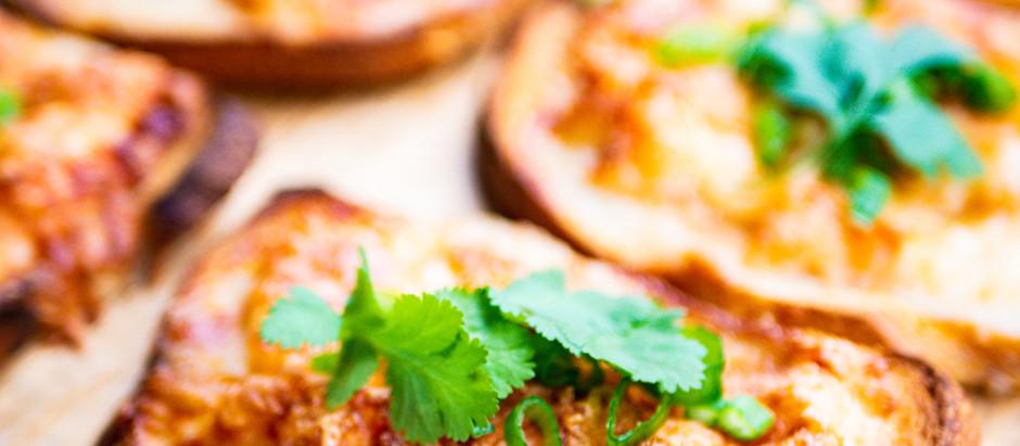 Easy 6-Ingredient Cheesy Shrimp Crostinis