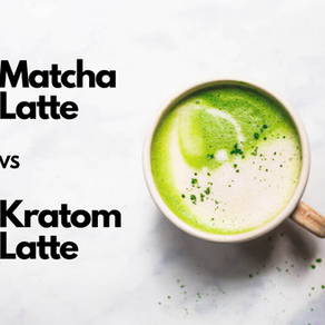 Matcha Latte VS Kratom Latte