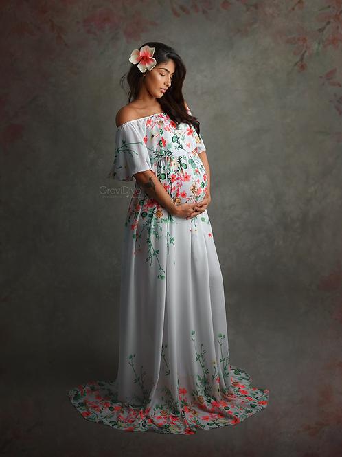 0203 - FLORAL CIGANINE DRESS