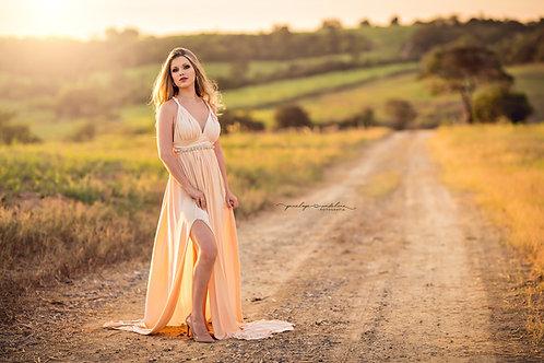 0022 - DOUBLE SLIT DRESS