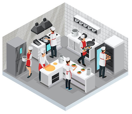 isometric-restaurant-cooking-room-concep