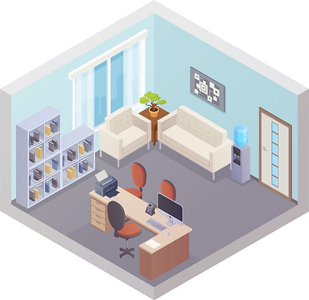 isometric-office-interior-with-boss-work