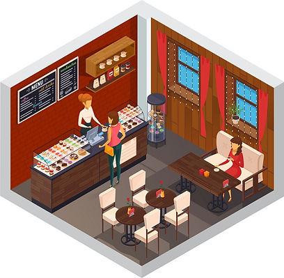 caffeteria-restaurant-isometric-composit