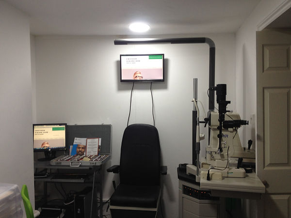 Sight Test room at Croydon Vision Care, 44 Lower Addiscombe Road Croydon , South London, Surrey CR0 6AA.