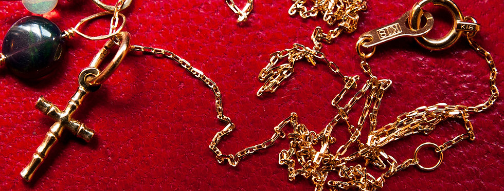 K18 Gold Azuki chain / K18ゴールド アズキチェーン(GO12002)