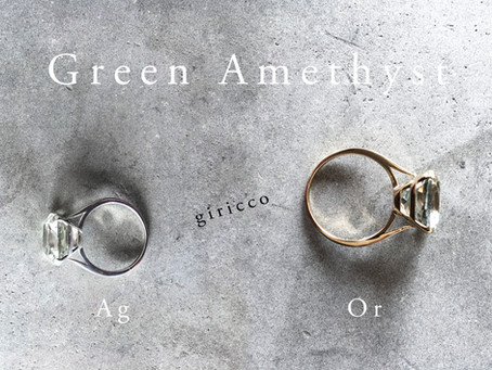 MARTINE K18 & Silver Green Amethyst Square RING(グリーンアメジストスクエアリング)を公開しました。