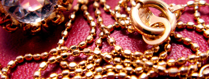 K18 Gold Cut-Ball chain / K18ゴールド カットボールチェーン(GO12001)