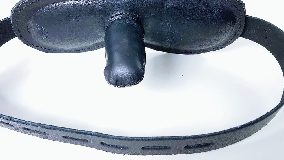Deep Leather Gag / Tiefer Lederknebel