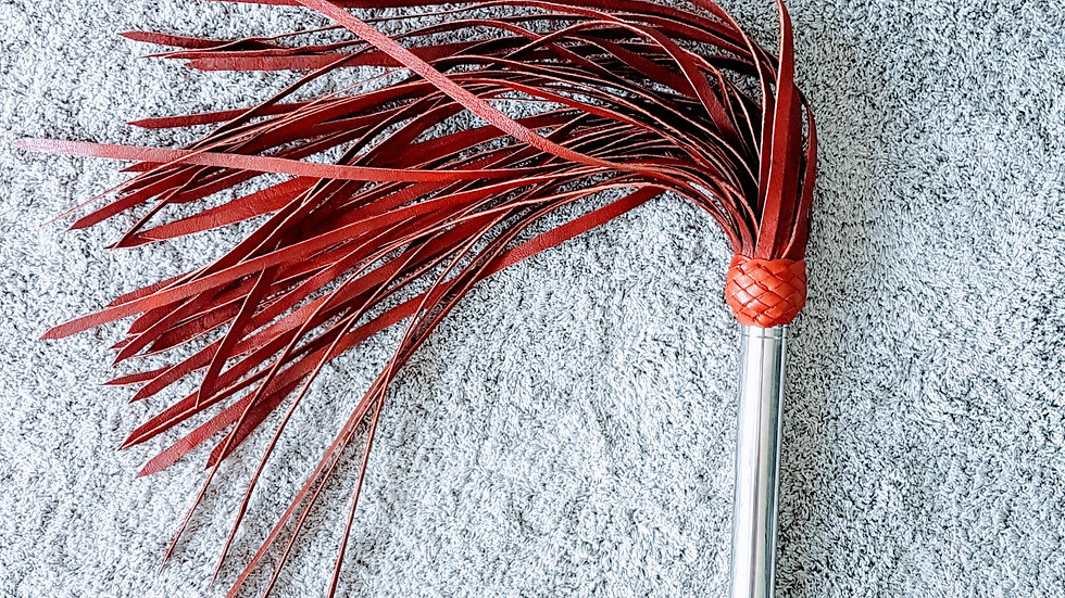 Red Flogger made of Dried Leather