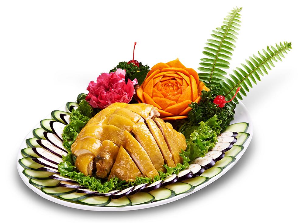 白斬閹雞-豆麥放養十個月閹雞....