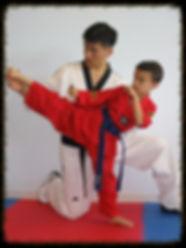 Taekwondo karate kick