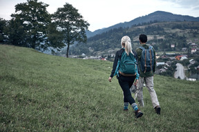 Couple Hiking Outdoor