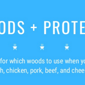 WOODS AND PROTEINS - which to use when you're smoking fish, chicken, pork, beef, and cheese.