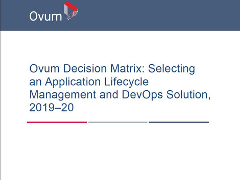 Why Ovum Rates IBM Engineering Lifecycle Management (ELM) an ALM Market Leader