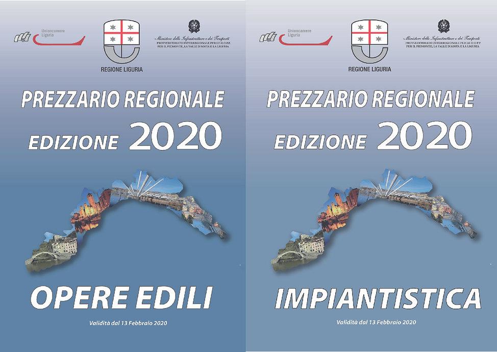 Prezzario Regionale Opere Edili e Impiantistica versione cartacea Edizione 2020