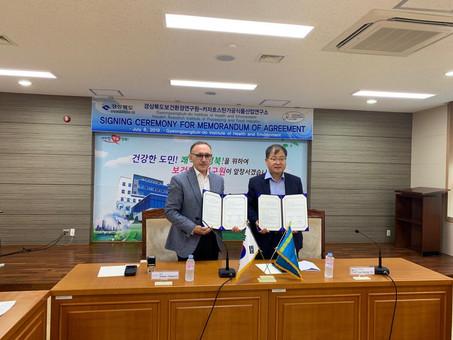Меморандум о сотрудничестве с Государственным центром охраны здоровья и окружающей среды. Ю.Корея