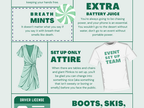 What you REALLY, SERIOUSLY must pack for an Event Day!