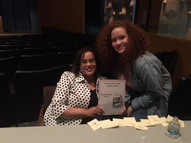 Meeting with author, Duchess Harris