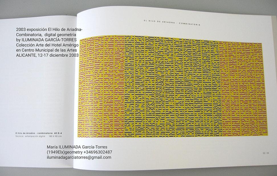 2003·expo Hilo de Ariadna- Combinatoria.