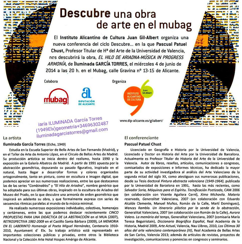 2014·Conferencia MUBAG. geometría Digita