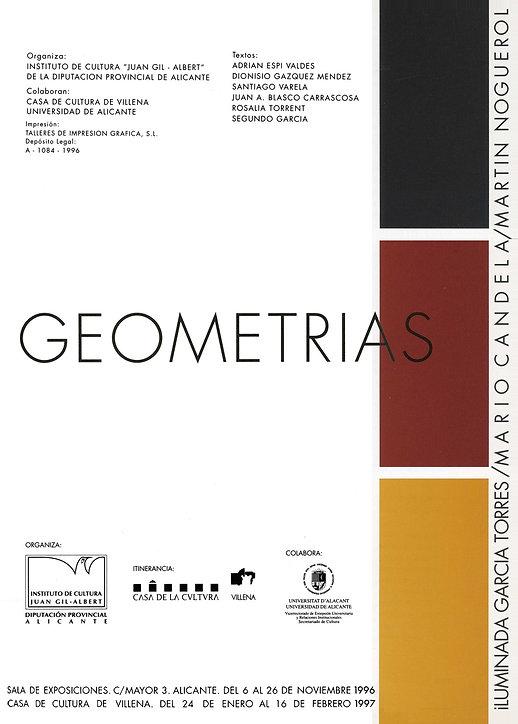 1996 datos catálogo exposición GEOMETRIA
