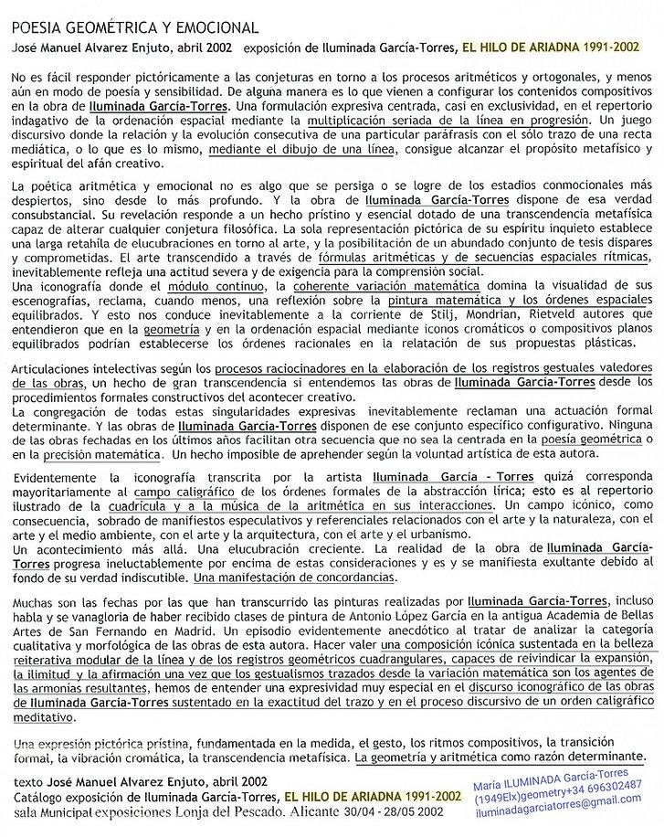 2002·Poesía Geométrica texto José Manuel
