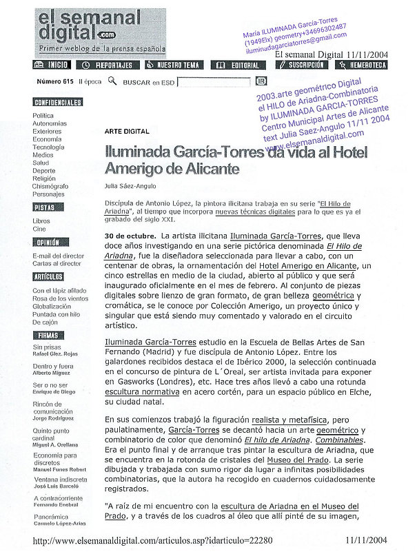 2004 El Semanal Digital. ILUMINADA GARCÍ