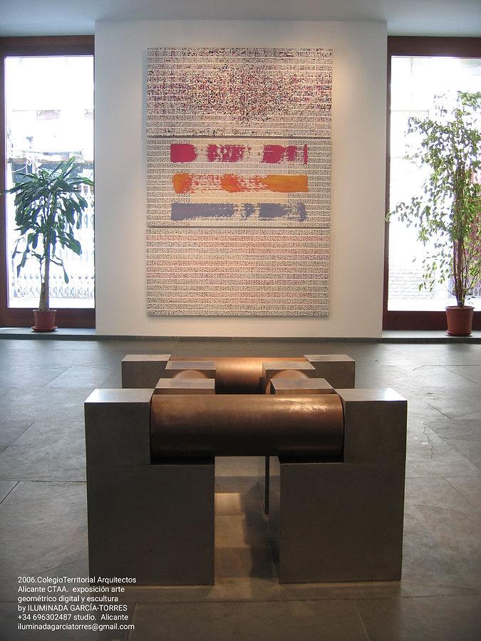 2006.ColegioTerritorial ArquitectosAlicante CTAA, exposición artegeométrico digital y escu