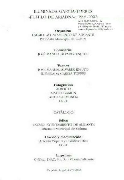 2002·datos  Expo El HILO de ARIADNA 1991