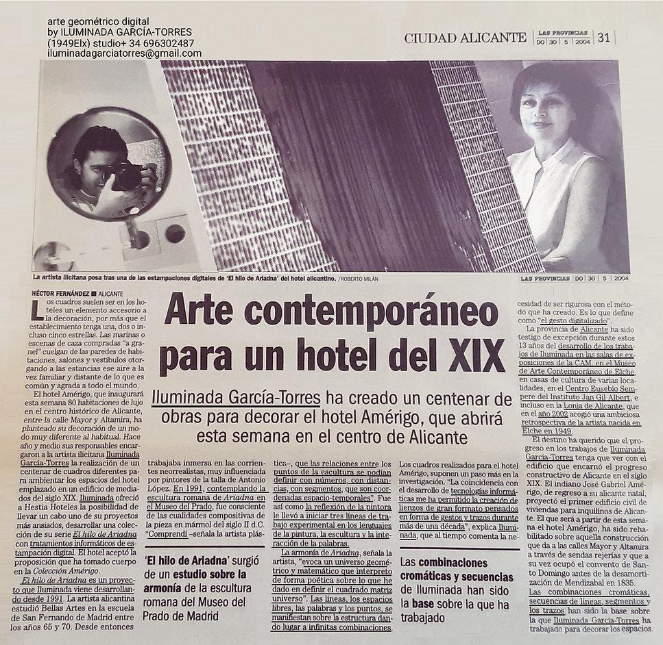2004.texto Hector Fernández LAS PROVINCIAS 30.05.2004 Hector F. geométría digital El Hilo