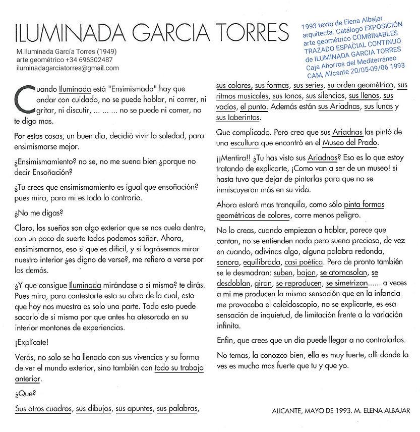 1993·texto E. Albajar COMBINABLES arte geométrico de ILUMINADA GARCIA-TORRES (1949Elx). ex