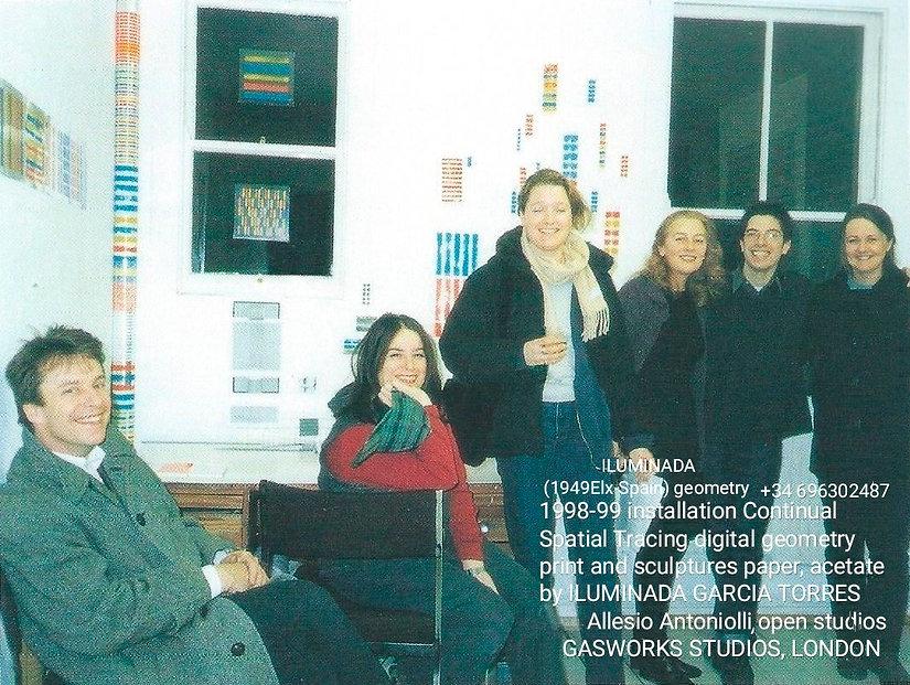 25 February 1999 Open Studio arte geométrico by ILUMINADA GARCÍA-TORRES con Allesio Antoni