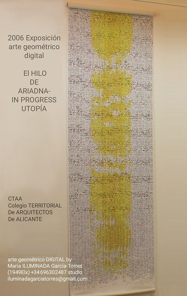 2006 geometría Digital by ILUMINADA GARCIA-TORRES(1949ELX)  exposicion Colegio Territorial