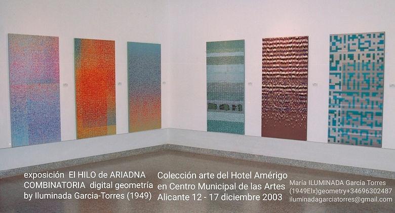 2003 exposición EL HILO DE ARIADNA -Comb