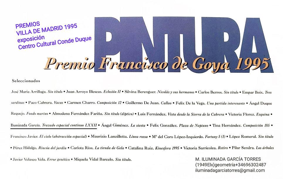 1995 Premios Villa de Madrid PINTURA Trazado Espacial Continuo by M. ILUMINADA GarciaTorre