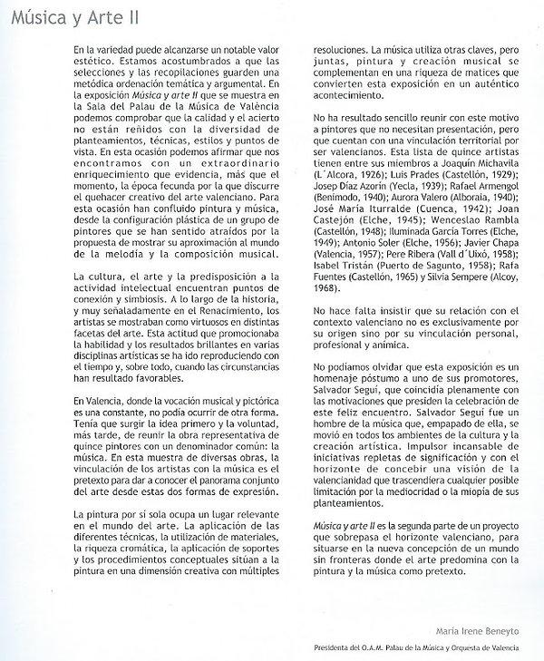 2004-exposición MÚSICA ARTE II. catálogo