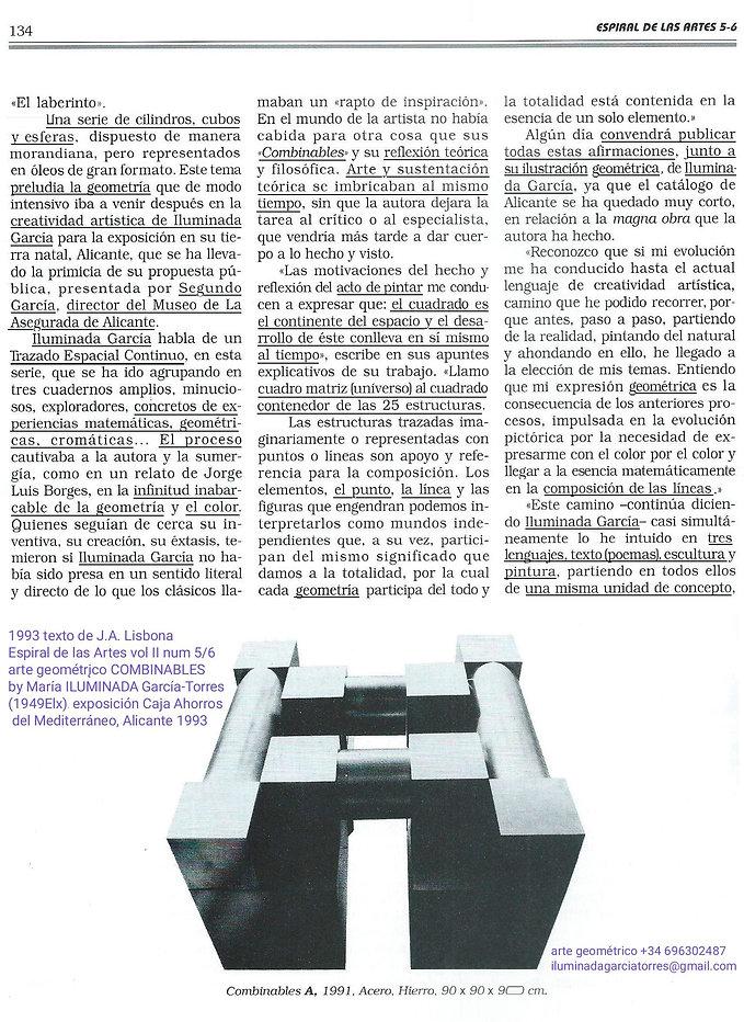 1993 texto J.A. Lisbona Espiral de las A