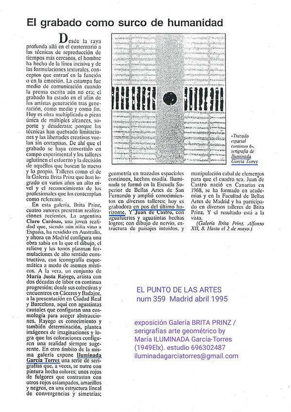 1995· El PUNTO num 359 exposición Galerí